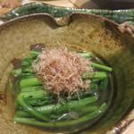 おでんと日本酒 卸 - 春菊。