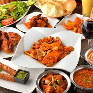 カレーだけじゃない!幅広いインド料理をお得に楽しめるプランも
