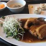 恵比寿餃子 大豊記 - 豚の角煮定食