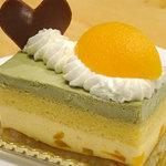 ゝ月庵 - 料理写真:あんずとピスタチオのケーキ380円