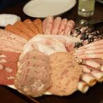 イル コテキーノ - 料理写真:ソーセージとサラミの盛り合わせ
