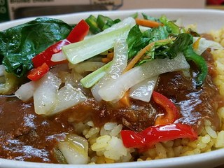 カレーショップ ボナッ - ボナッカレーい炒め野菜