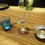 創作料理 薫風湘南 - 日本酒唎酒3種セット