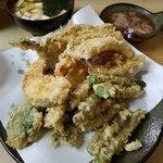 いもや - 天ぷら定食+穴子+いんげん