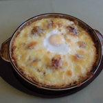 カフェ&レストラン ビオラ - 料理写真:シーフード焼きカレー。美味しかったですよ、私はチーズのかかってない部分しか食べてませんがw