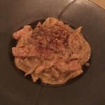 お箸で食べる和フレンチ 波波 - トリュフカルボナーラ