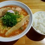 麺屋 じすり - 海老しお+ライス