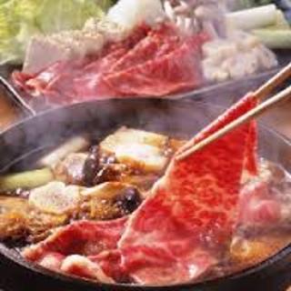 歓送迎会には左藤自慢の「黒毛和牛すき焼き」コースを堪能!