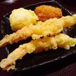 薫風 梅み月 - 天ぷら、牡蠣フライ