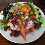 Trattoria ALBERO - お皿は小さめだけど、トッピングやドレッシングでアレンジが楽しいサラダビュッフェ(その1)