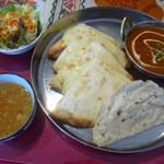 RAJA - チーズナンセット(マトンカレー)