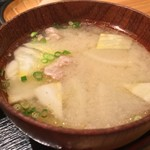 85865495 - 豚汁(麦味噌でしたよぉ〜)