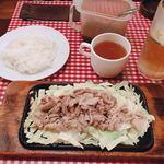 レストランあづま - 豚のじゅうじゅう焼き  900円 (スープ、ライス付)