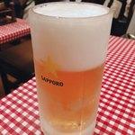 レストランあづま - 生ビール 中  650円
