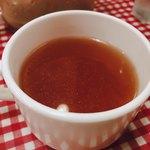 レストランあづま - ランチセットのスープ