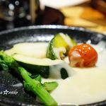 イタリアン&グリル アクア イルフォルノ - 焼き野菜にチーズフォンデュ