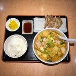 天理スタミナラーメン - 料理写真:スタミナラーメンセット  ¥980