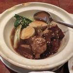 85871796 - 豚角煮と青菜の定食セット850円