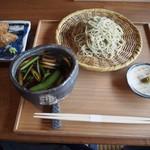 そば切り 鴨嘴 - 料理写真:鴨汁 & いなり寿司