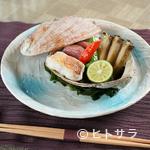 和食 浜木綿 - 素材の調和を楽しめる『焼物(鮑殻盛り)』