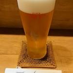 翁 - 生ビール。