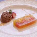 Kokoro - 柑橘のテリーヌ チョコレートクリーム添え