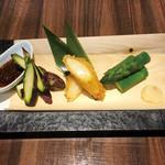 魚菜 日本橋亭 - 3色アスパラ_3種