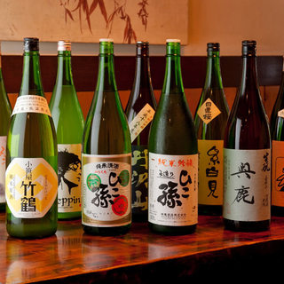 旨い酒をご堪能あれ!40種以上の銘酒と本格焼酎と日本ワイン