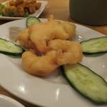 台湾料理 海鮮館 - B群より エビの天ぷら