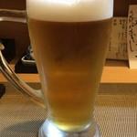 割烹 ゆう介 - 生ビール(中) 600円