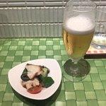 シンバシキッチンモト - 生ビール&お通し