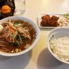 塩子屋食堂 - 料理写真:Bセット(もやしラーメン+唐揚げ・サラダ・ライス)  ¥700-