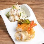 NEW!■鱧湯引きと香味野菜のマリネ&海老カツ