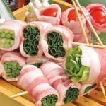 すき焼き豚巻き串