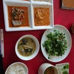 ライタイ - 取り放題カレー、ライス、スープ、生春巻き、パクチーサラダ♪