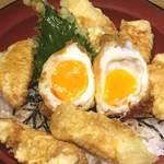 鶏と半熟卵の親子天丼