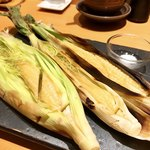 八新鮨 - ○ヤングコーン素焼き様