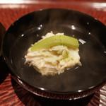 日本料理 晴山 - 毛蟹真丈のお椀