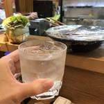 名門酒蔵 - 焼酎ロックの少し水足し