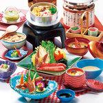 富士甲羅本店八宏園 - 料理写真:かにしゃぶ釜飯御膳