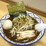 波 - ラーメン ¥650 + 味付玉子 ¥130