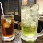 横綱 - ウーロン茶と横綱 酎ハイライム