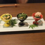 8590247 - 京のお浸し食べ比べ(3種)