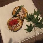 8590250 - イベリコ豚と賀茂茄子の帆立味噌焼き