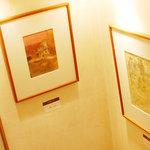 シャポー・ルージュ - 油彩、水彩、リトグラフ(版画)と、すべて織田広喜画伯の絵だけを展示。
