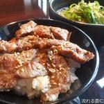 85901122 - 焼肉丼+九条ネギの柚子冷麺