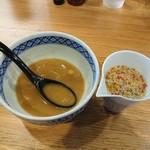 つけ麺 いちびり - スープ割り