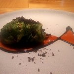 Ristorante fanfare - 桜鯛の春キャベツ包焼き トマトのクーリとブラックオリーブ(2018.4)