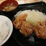 からあげ日本一 - おろしポン酢からあげ定食 734円