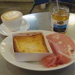 パンとエスプレッソと - フレンチトースト ハムセット